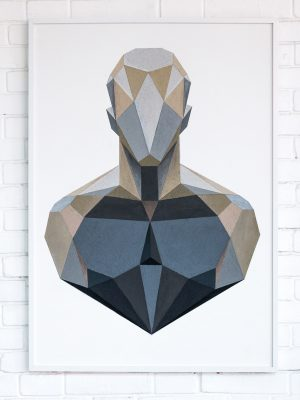 Bluxm-Art-Sand-Gray-Black-White-Polygon-Human-Man-Geometry