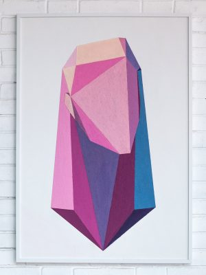 Bluxm-Art-Woman-Human-Design-Polygon-Geometry-Pink-Purple-